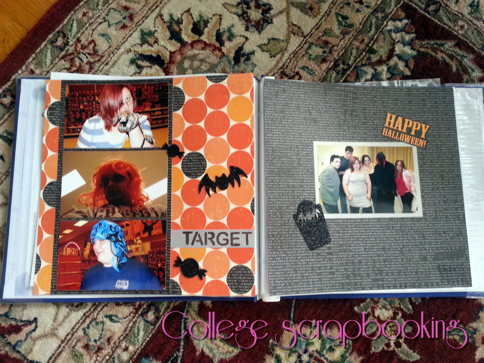 SwankyLuv: Halloween at College Scrapbook