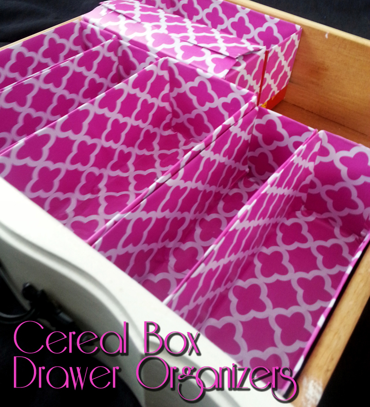SwankyLuv: Cereal Box Drawer Organizers
