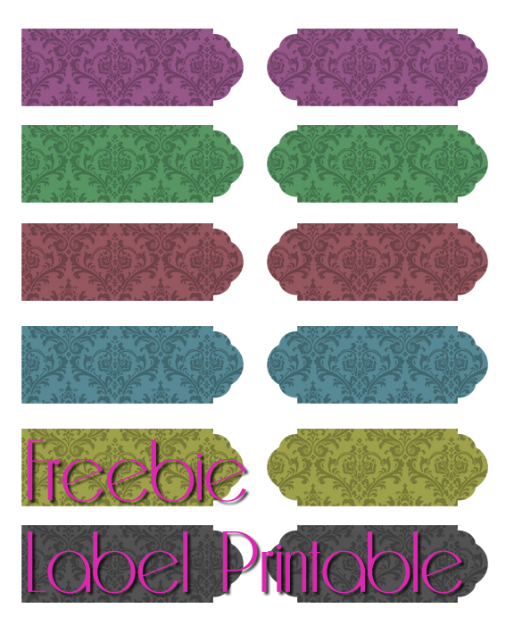 SwankyLuv: Freebie Label Printable!