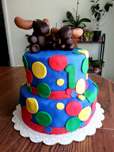 SwankyLuv: The Polka Dot Cake from Hell