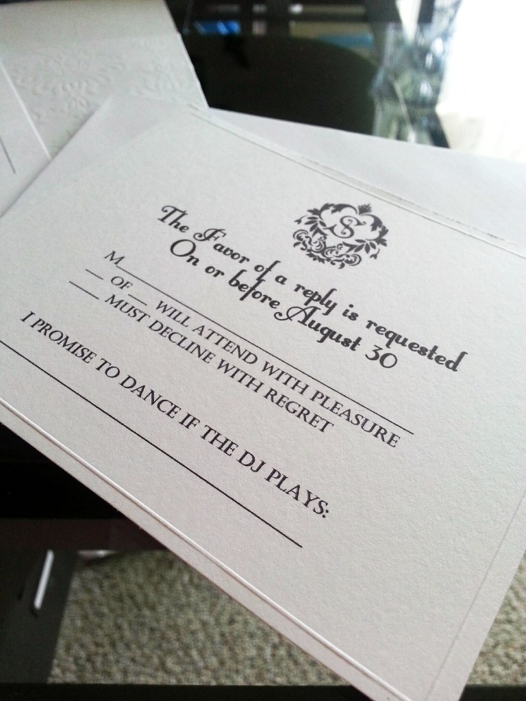 SwankyLuv: My $15 Wedding Invitations