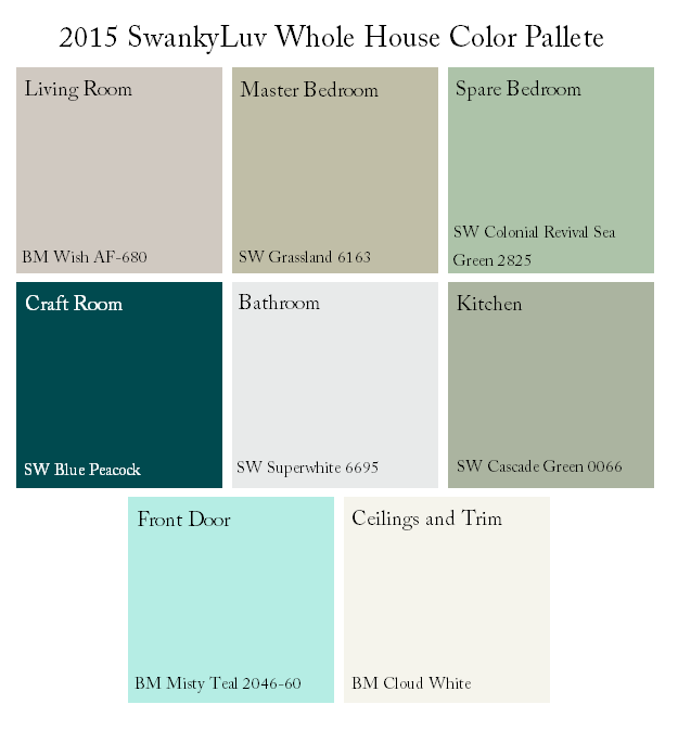 SwankyLuv: Whole House Color Scheme