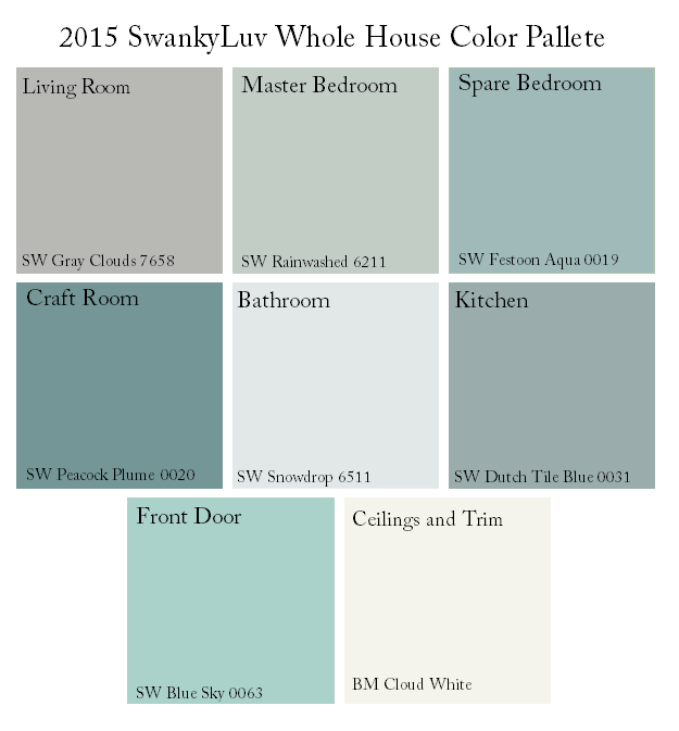SwankyLuv: Whole House Color Scheme... Again